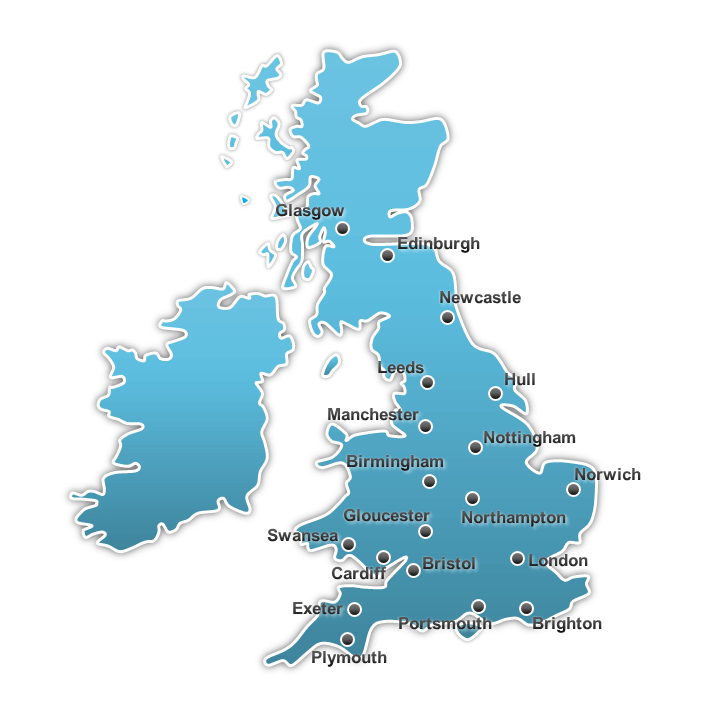 location links for office space to rent on a united kingdom map