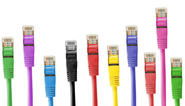 Different Coloured Ethernet Cables