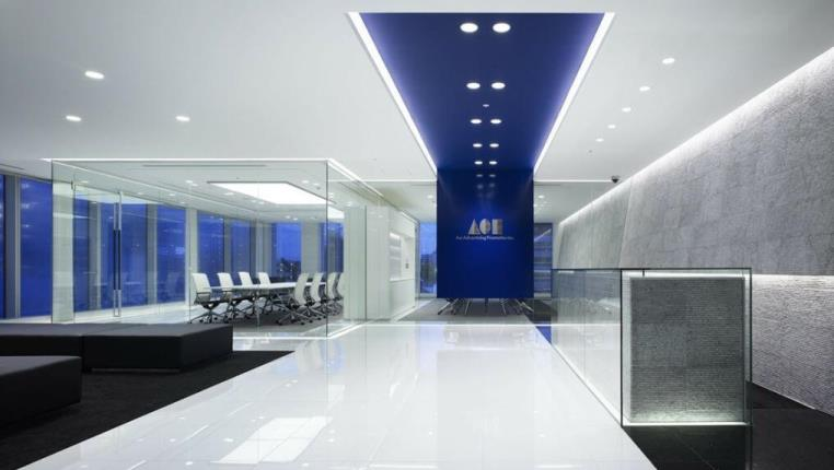large modern office space with reception and boardroom room