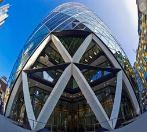 The Gherkin exterior two